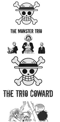 Monster Trio   Trio Coward ---- Luffy 3cc68779679