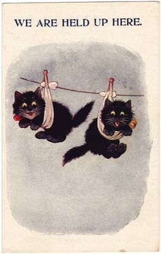 We Are Held Up Here, United Kingdom, date unknown, by Louis Wain.