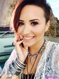 Demi Lovato - a survivor and inspiration. A silly disorder won't stop her from loving her life. #inspiring #bipolar