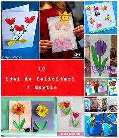 10 idei, felicitari de 8 Martie Martie, Playing Cards, Creativity, Playing Card