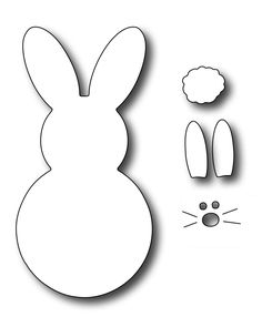 Frantic Stamper Precision Die - Large Marshmallow Bunny -This simple rabitt shape was inspired by the marshmallow candy so popular this time of year. Bunny Crafts, Felt Crafts, Easter Crafts, Diy And Crafts, Crafts For Kids, Marshmallow Bunny, Bunny Templates, Frantic Stamper, Easter Pictures