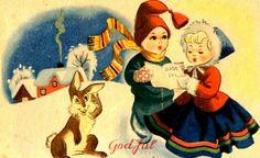 Julekort Jørgen Thorsrud  Stemplet 1949 Utg Børrehaug & Remen Christmas Cards, Christmas Postcards, Norway, Painting, Art, Christmas E Cards, Art Background, Xmas Cards, Painting Art