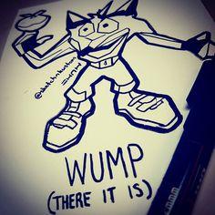 Crash Bandicoot Wumpa Mashup #wumpa #wumpafruit #whoomp #whoompthereitis #tagteam #crashbandicoot #crash #bandicoot #oldschool #rap #mashup #videogames #ps1 #art #ink #graffiti #artist #playstation #childhood #hero #cool #vector #lineart #line #posca #naughtydog #sony #franchise