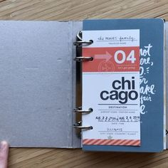 Chicago // August 2016 - here's a quick flip through of my completed mini book! Album + interior cards are part of an old (+ way fun!) kit by @christine.herrin