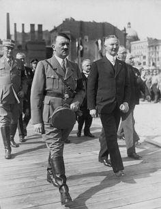 Hitler & Reichsbank President, Hjalmar Schacht