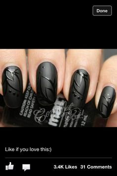 Matt black with black gloss design