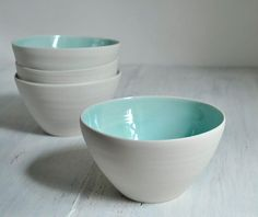 just started throwing porcelain... i love these bowls on  etsy.  #etsy #porcelain #bowl