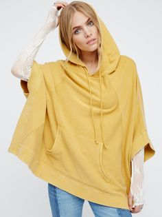 Maritza Veer || FP Magical Day Oversized & Slouchy Kimono-Style Pullover Hoodie (Sunstone)