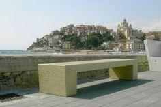 ERACLEA concrete marble bench #Bellitalia #streetfurniture #arredourbano