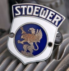 GERMAN ENAMEL CAR BADGE / EMBLEM AUTOMOBILE # STOEWER
