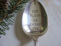 Hand Stamped Serving Spoon, $18.00