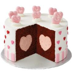 "This ""Hearts Galore"" cake will be a Valentine's Day favorite! (via wilton.com)"