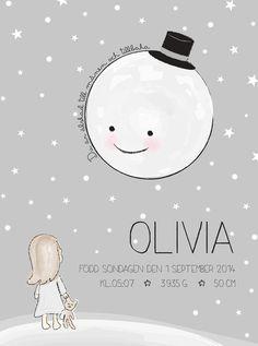 Älskad till månen | Namntavla | barntavla