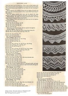 vintage-knitted-lace-patterns... wouldn't it be fun to actually MAKE something with this!