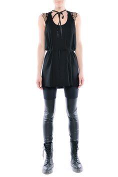 Legginsy - dwie czernie Peplum, Snoopy, Rompers, Fitness, Model, Dresses, Fashion, Tunic, Vestidos