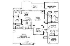 Georgian House Plan - Lupine 30-747 - Floor Plan
