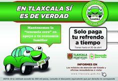 """#TLAXCALA MANTIENE VIGENCIA EL PROGRAMA """"AHÓRRATE LA TENENCIA"""" ESTE AÑO  ·         El Gobierno del Estado ofrece... http://fb.me/2JcoJ1KkL"""