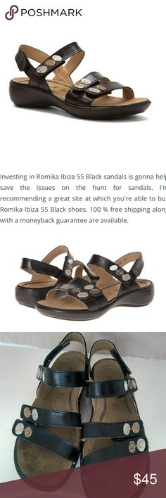 51f02bdf08268e Romika Ibiza 55 black leather sandal size 40 Excellent condition Romika  Shoes Sandals
