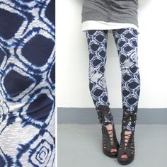 Luxe Collection Leggings - Navy Diamond Tie Dye