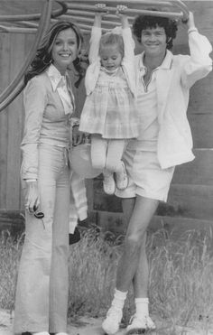 Micky Dolenz & Samantha Juste Dolenz with daughter Ami Bluebell Dolenz in 1972. Ami was born in Burbank in January 1969.  Ami looks so much like her mom!