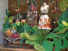 NYC, Style and a little Cannoli: Anthropologie Window Art April 2010 Rockefeller Center
