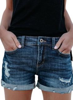 1d01189498 30 Best Distressed shorts images | Fashion clothes, Lace, Shorts