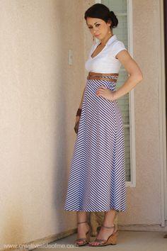 My Fashion Striped Skirt