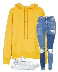 """""""Untitled #3563"""" by mfr-mtz ❤ liked on Polyvore featuring Helmut Lang, Topshop and NIKE"""