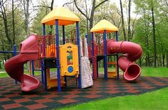 Playground Flooring  I  Six bold and bright colors  I  Made in the USA  I  10 year warranty