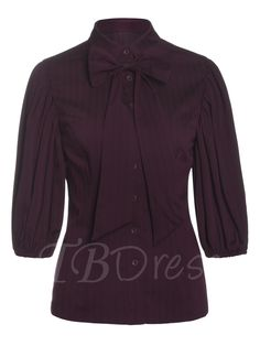 Tbdress.com offers high quality Sweet Three-Quarter Sleeve Bowknot Women's Blouse under the category Blouses unit price of $ 24.99.