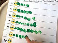 Great Hands-on counting for the boys