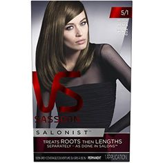 Vidal Sassoon Salonist Hair Colour Permanent Color Kit, 5/1 Medium Cool Brown *** Read more reviews of the product by visiting the link on the image. (This is an affiliate link) #PersonalCare