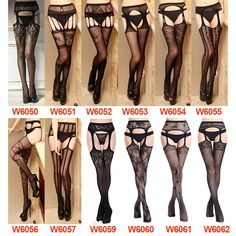 """Universe of goods - Buy """"Women Sexy Lingerie Stripe Elastic Stockings Transparent Black Fishnet Stocking Thigh Sheer Tights Embroidery Pantyhose for only USD. Elastic Stockings, Fishnet Stockings, Stockings Lingerie, Sexy Lingerie, Sexy Women, Sheer Tights, Black Fishnets, Ideias Fashion, Thighs"""