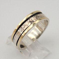 Fabulous unisex 9K Yellow Gold Sterling Silver Swivel by jewela