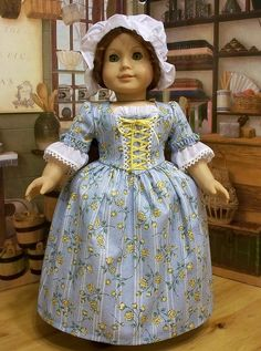 Yellow Rose Gown for Felicity or Elizabeth  1774 by Keepersdollyduds, via Flickr