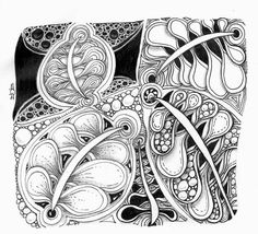 The Diva's challenge for week #153  is a UMT (Use My Tangle) challenge featuring Jailed Johnny - by Sadelle Wiltshire, CZT.   This tangle...