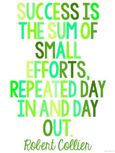 Those small efforts add up to a BIG result!