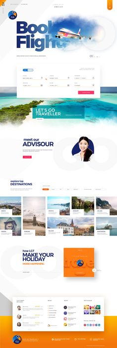 This is our daily Website design inspiration article for our loyal readers. Every day we are showcasing a website design ideas whether live on app stores or only designed as concept. Travel Agency Website, Travel Website Design, Travel Design, Tourism Website, Layout Web, Website Design Layout, Layout Design, Design Agency Website, Material Design Website