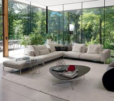 This contemporary corner sofa from IQ Furniture is also available in other configurations including a two seater option. With a range of sizes, the Alison sofa can perfectly fit any space.