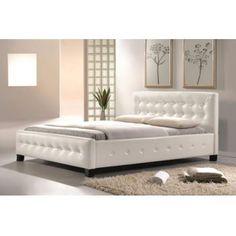 Pat tapiţat alb Fresco vintage #paturi #paturivintage #dormitoare #mobiladormitor #beds #vintagebeds #bedrooms #DecoStores