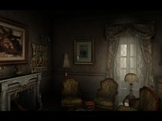 Haunted Mansion, Mansions, Living Room, Painting, Image, Sitting Rooms, Painting Art, Fancy Houses, Living Rooms