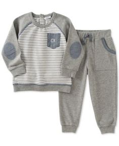 CARTER/'S SET X2 SWEAT PANTS COTTON ATHLETIC PULL ON BOYS 6 24 M 2T CAMO GREY NEW