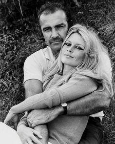 "Brigitte Bardot and Sean Connery by Terry O'Neill on the set of ""Shalako"" in Spain, 1968. #brigittebardot #bardot #bb #seanconnery #icon #legend #vintage #love #unforgettable #spain #1960s"