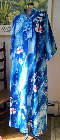 Vintage Hawaiian MUUMUU dress! XL by MissElizaVintage on Etsy