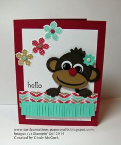 Turtle Creations: Petite Petals - Monkey Punch Art - Stampin' Up!