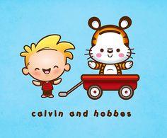 Kawaii Calvin & Hobbes
