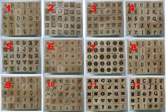 #Hampton art  rubber #stamp set #typewriter alphabet letters  set of 30 #stamps,  View more on the LINK: http://www.zeppy.io/product/gb/2/140627602296/
