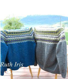 Mellom himmel og jord: Nordkapp kofte i ny drakt Fair Isle Knitting, Diy And Crafts, Throw Pillows, Blanket, Inspiration, Crochet, Knitting Sweaters, Dame, Craft Ideas