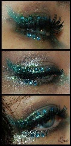 Tolles Meerjungfrauen Make-up! #Meerjungfrau #TeenEventMeerjungfrauenEvents www.teenevent.de