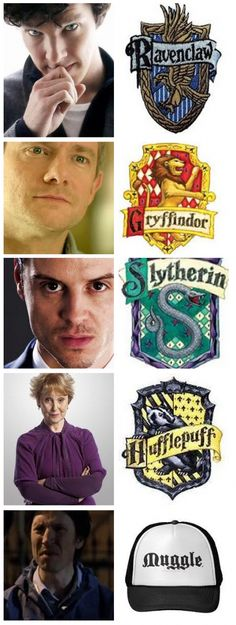 AHAHA anderson. Though I think Molly and Lestrade both belong in Gryffindor in their own right, too.